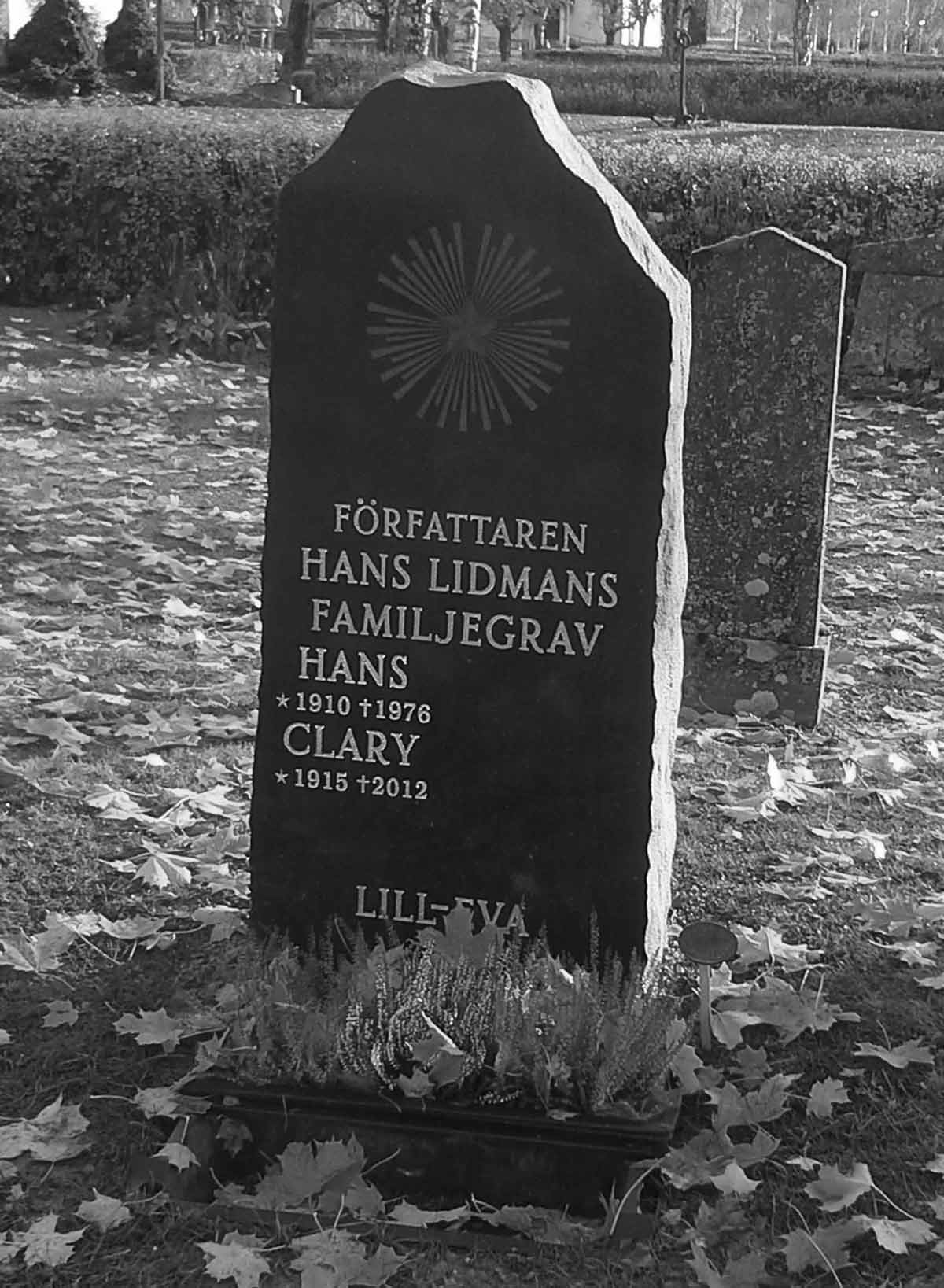 Hans Lidmans grav