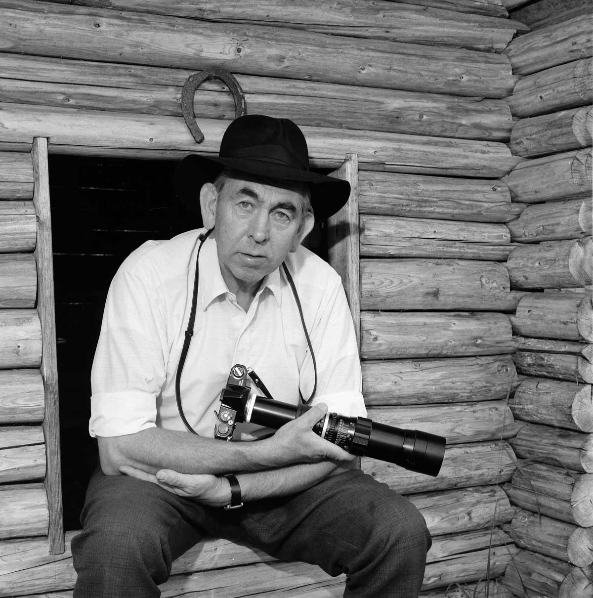 Hans Lidman med kamera
